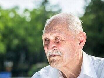 a portrait of  senior man